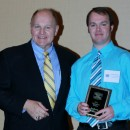 Executive Director Dr. Bill Emendorfer and Champion Within Award Recipient Andrew Williams
