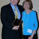 Executive Director Dr. Bill Emendorfer and Courage Award Recipient Peggy Michaels