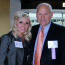 Champion Within Award Recipient Tiffany Baines and Past Inductee Coach Phil Fulmer